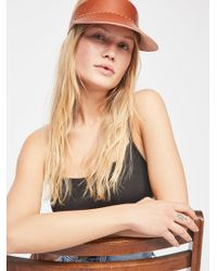 Free People - Rendon Leather Visor - Lyst