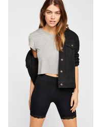 Free People - Cropped Baby Bamboo Tee By Intimately - Lyst