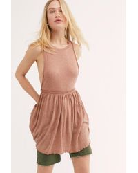 368833ab7491e Free People Fp One Antiquity Mini Dress in White - Lyst