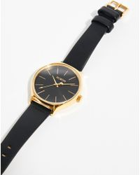 Free People - The Clique Leather Watch By Nixon - Lyst