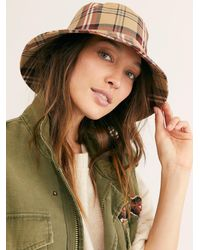 Free People Chaise Plaid Bucket Hat - Multicolour