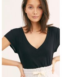 Free People - V Easy Tee By Intimately - Lyst
