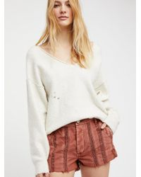 Free People - Great Expectations Short - Lyst
