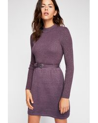Free People - French Girl Mini Dress - Lyst