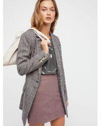 Free People - Modern Femme Vegan Suede Mini Skirt - Lyst
