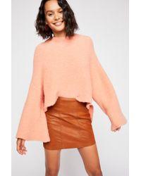 fada62f68e Free People Modern Femme Novelty Stripe Mini Skirt in White - Lyst