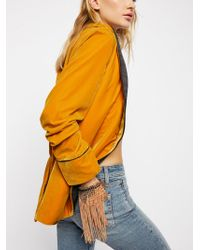 Free People - With The Wind Fringe Mesh Glove - Lyst