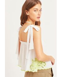 2adc783964a Free People - All Ways Embroidered Cami By Intimately - Lyst