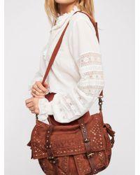 Free People - Studded Distressed Messenger Bag - Lyst