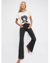 Free People - Low Tide Flare Jeans - Lyst