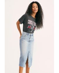 Free People - We The Free Wilshire Denim Skirt - Lyst