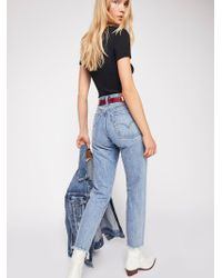 Free People - Levi's Wedgie Icon High Rise Jeans - Lyst