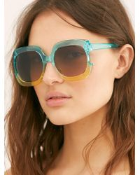 Free People - Gradient Real Deal Oversized Sunglasses - Lyst