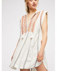 Free People - Drift Away Embroidered Tunic - Lyst