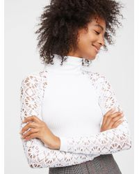 Free People | Rib And Lace Turtleneck | Lyst