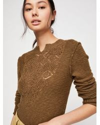 Free People - Frosted Lace Sweater - Lyst