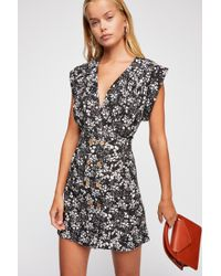 Free People - Into Town Printed Mini Dress - Lyst