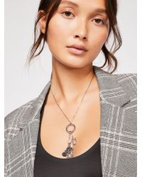 Free People - Dey Delicate Pendant Necklace - Lyst