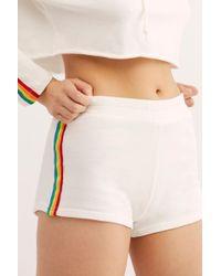 ab27ef7dda Free People Pleated Denim Shorts in Blue - Lyst