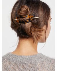 Free People - Oval Tort Hair Stick - Lyst