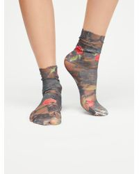 Free People - Extra Smitten Lace Crew Sock - Lyst