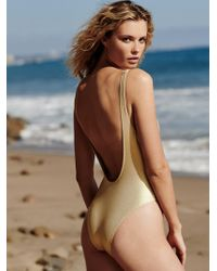 Free People - The Michelle Metallic One-piece Swimsuit - Lyst