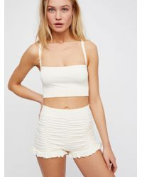 Free People - Ruched Seamless Shorts - Lyst