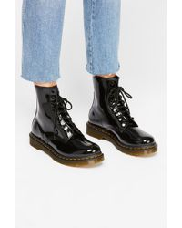 Free People - Dr. Martens 1460 W High Shine Boot - Lyst