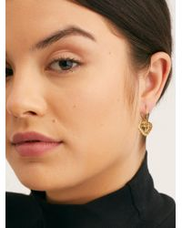 Free People - Baby Heart Hoops By Five And Two - Lyst