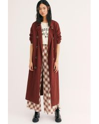 0a5fa59e2554 Free People - Sweet Melody Trench Coat - Lyst