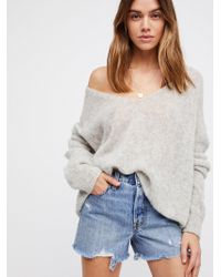 Free People - Levi's High-rise Wedgie Cutoff Shorts - Lyst
