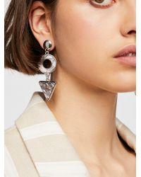 Free People - Resin Asymmetrical Earrings - Lyst