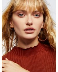 Free People - Essential Tube Hoop Earrings - Lyst