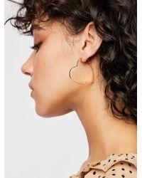 Free People - Mia Heart Hoop Earrings - Lyst