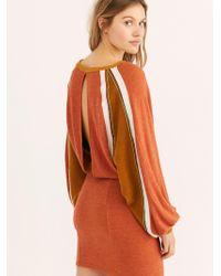 Free People - Bunny Slope Knit Mini Dress - Lyst