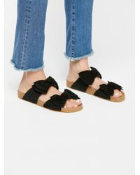 Free People - Double Knot Footbed Sandal - Lyst