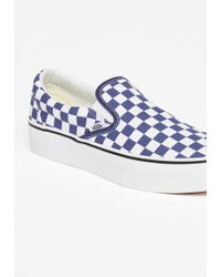Free People - Classic Platform Slip-on Trainer By Vans - Chemise - Lyst