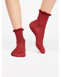 Free People - Bryant Heather Ankle Sock - Lyst