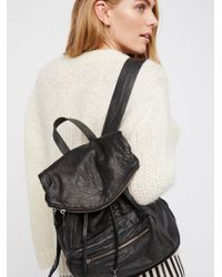 Free People - Bow Leather Backpack - Lyst
