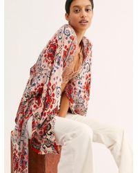 Free People - Little Wing Mix Print Kimono - Lyst