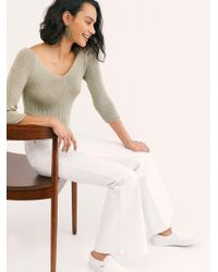 Free People - Lee High-rise Flare Jeans - Lyst