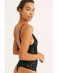 Free People - Live It Up Lace Bodysuit - Lyst. Free People - Intimately Fp  ... e888e8bed