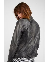 54646cf98e3 Lyst - Free People Vintage Leather Fringe Jacket in Brown