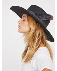 Free People - Accessories Hats Bandidas Feather Band Hat - Lyst