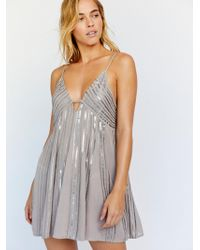 Free People - Here She Is Embellished Slip - Lyst