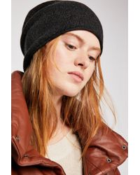 Free People - Cashmere Roll Cuff Beanie - Lyst