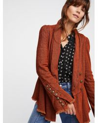 Free People - Flared Sleeve Blazer - Lyst