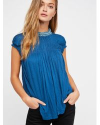 Free People - Mother Of Pearl Muscle Tee - Lyst