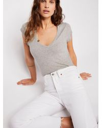 Free People - Baby V-neck Tee - Lyst