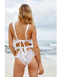 Free People - Elle Lace One-piece Swimsuit By For Love & Lemons - Lyst